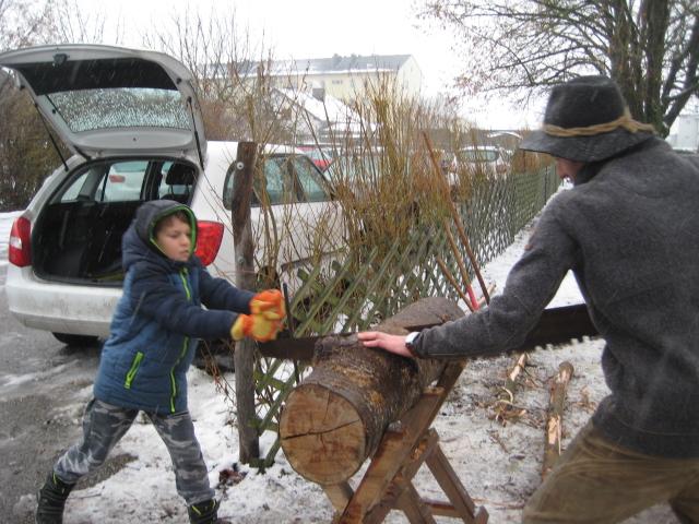Holzarbeit früher